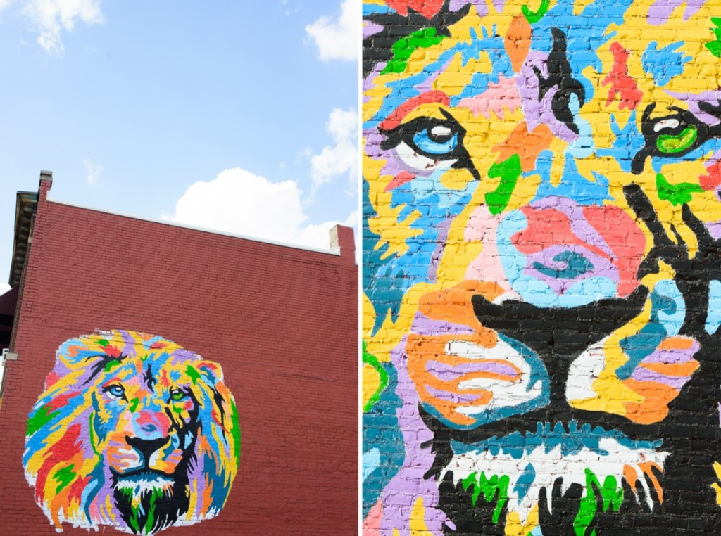 saginaw lion mural painting-003